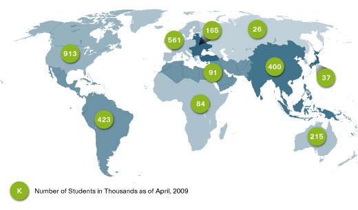 Students & Growth by Region (800,000+ Students)